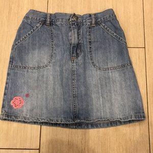 Girls cute Denim Skirt with Flower Detail